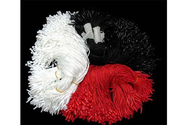 نخ پلوم سر فشنگی سفید و قرمز و مشکی و هر بسته 1000 عددی 20سانتی متر